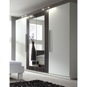 ARMOIRE 4 PORTES  VERO WHITE/BLACK