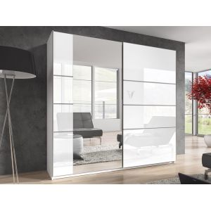 ARMOIRE 180 COULISSANTE BETA BLANC GLOSS