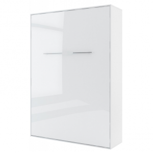 Lit Escamotable Vertical 140 X 200 Blanc Gloss