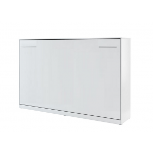 Lit Escamotable Horizontal 140 X 200 Blanc Perle