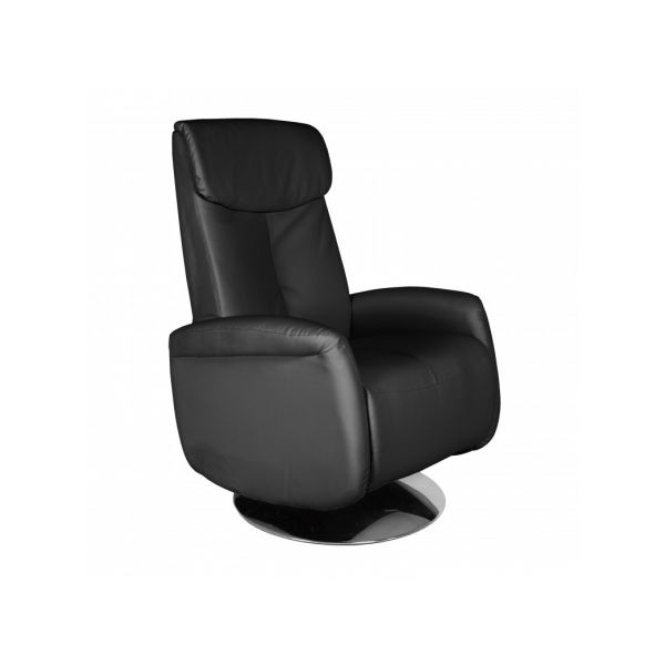 FAUTEUIL RELAX INCLINABLE NOIR CONFORT