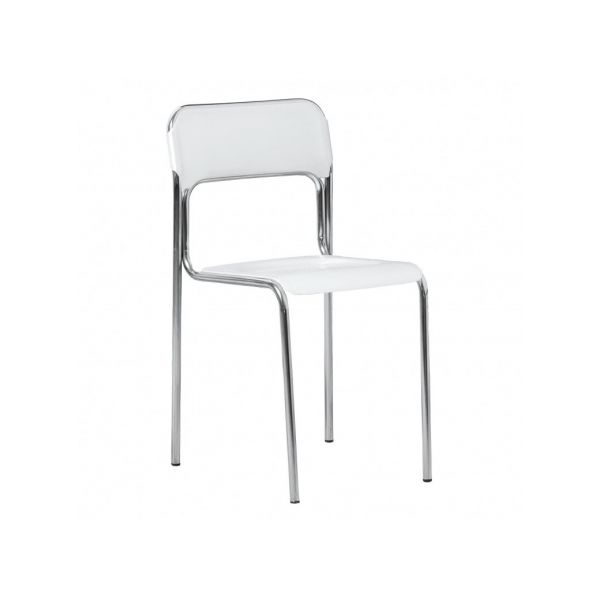 PACK DE 4 CHAISES SEMI TRANSPARENTES CONTEMPO