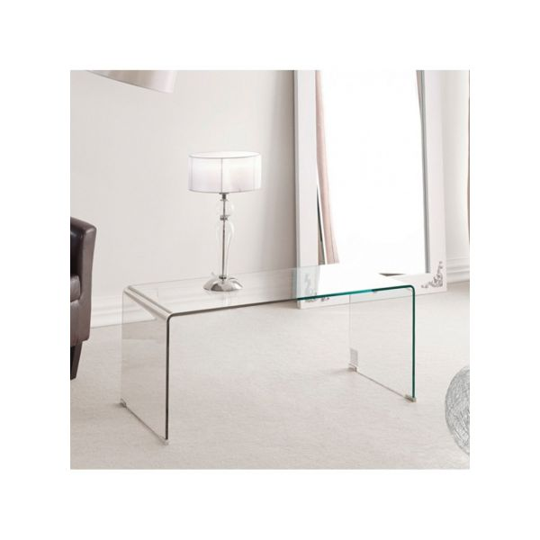 TABLE BASSE VERRE TRANSPARENT SECURIT CONTEMPO