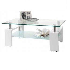 TABLE BASSE GLOSS + VERRE...