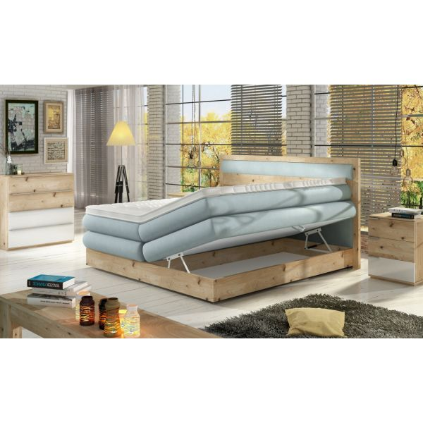 Lit Boxspring - Bois Massif - Collection Diora