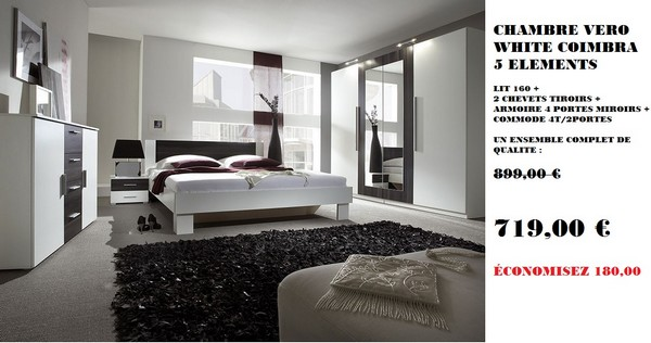Promotion chambre Vero White Black